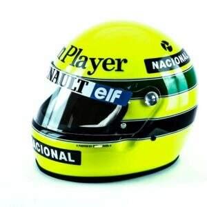 Primeira Vitória na F1 – Réplica do Capacete de Ayrton Senna (1985)
